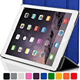 Forefront Cases Leather Case Cover with Magnetic Auto Sleep Wake Function for 7.9 inch Apple iPad Mini with Retina Display - Blue
