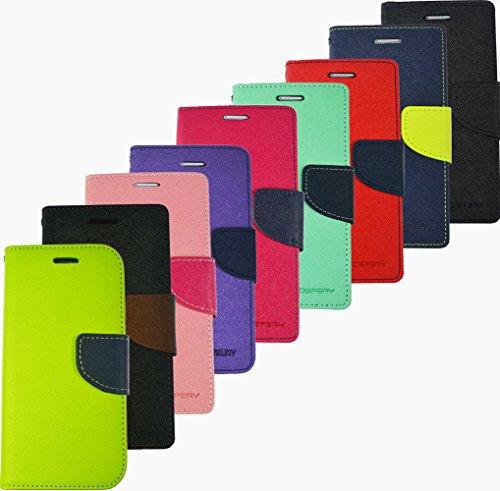 Für Apple iPhone Book Handy Tasche Flip Cover Hülle Etui Klapptasche iPhone 4 - 4s Grün Blau Schwarz Braun