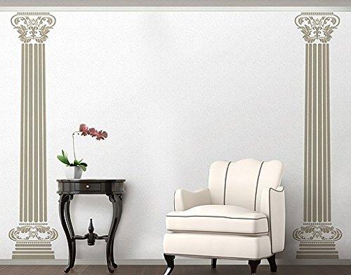 Wandtattoo No.RS29 Die Säulen der Aphrodite Stütze Architektur Dekoration, Farbe:Creme;Größe:305cm x 122cm