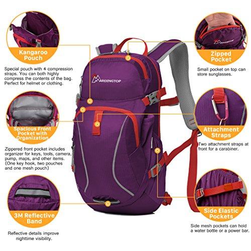 Mardingtop Fahrradrucksäcke Fahrrad Schulter Rucksack Wander Reisetasche Backpacks für Outdoor Radsport Reiten Bergsteigen Purple