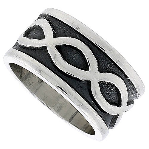 Revoni  - FASHIONRING 925 Sterling-Silber  Sterling-Silber 925 (Mens Wedding Bands Infinity)