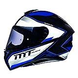 MT Targo Motorradhelm Integralhelm - Schwarz/Perl Weiß/Blau M (57-58cm)