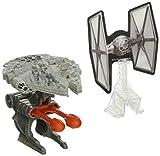 Star Wars Millennium Falcon mit Blast Attack - Hot Wheels Star Wars Flieger mit Abschlußvorrichtung …