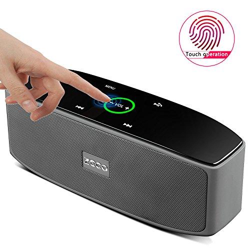 ZCCO táctil altavoz portátil, Super-Portable Bluetooth Speaker con 10 horas Playtime, 50 pies de Bluetooth Range, Bajo mejorado, funciona con iPhone, iPad, Samsung, Echo, Nexus, HTC, Laptops y manos libres