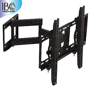 TV plasma lCD 3D support mural pivotant et inclinable pour téléviseur 66/26 à 55 pouces ou 140 cm max. 50 kg compatible vESA 75 x 75 jusqu'à 400 x 400 eMP - 511ST