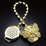 GCDN Rideau Embrasse Rideau d'or Clips De Papillon Aimant Étirable Drapé Printemps Titulaire Cristal De De Décoration(1#)
