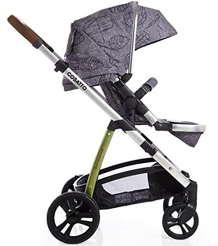 Cosatto Wow 3 in 1 isize Travel System Dawn Chorus with Dock car seat Bag footmuff & Raincover Cosatto Includes: Chassis,Carrycot,Seat unit,Dock isize Car seat,Car seat adapters,Footmuff,Change bag, Raincover & 4 Year guarantee(UK and Ireland only) Compact fold Telescopic, leatherette handle and Handy one-handed recline. One-hand release carrycot, One-hand adjustable leg rest and Super-sized basket with handy compartments 5