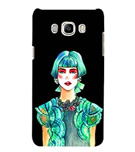 Beautiful Girl 3D Hard Polycarbonate Designer Back Case Cover for Samsung Galaxy J5 2016 :: Samsung Galaxy J5 2016 J510F :: Samsung Galaxy J5 2016 J510FN J510G J510Y J510M :: Samsung Galaxy J5 Duos 2016