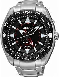 Seiko Herren-Armbanduhr Prospex Land Kinetic Analog Quarz Edelstahl SUN049P1