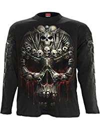 SPIRAL - T-Shirt Manches Longues Spiral DARK WEAR - Death Bones - Noir