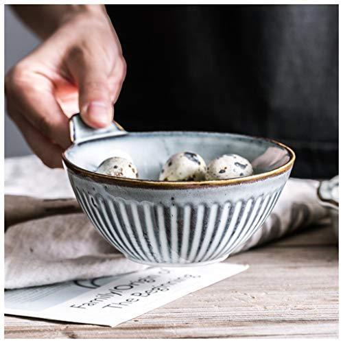 YYF Assiette rétro nordique en céramique - poisson/soupe/salade (Taille : 12.7cm)