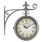 RD Reloj de Pared Paddington Station London 1854 Estaciòn Forja Color Acero