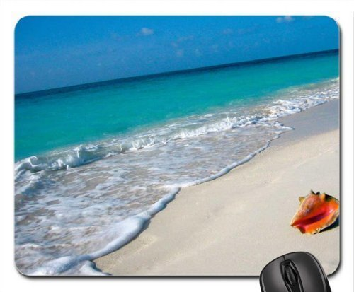 Conch Shell on Beach Tahiti Mouse Pad, Mousepad (Beaches Mouse Pad) -