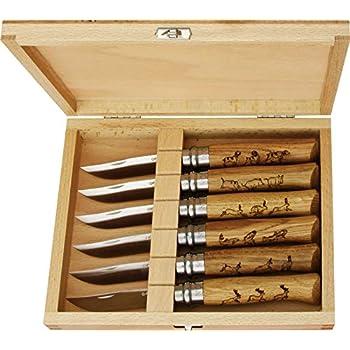 Opinel O001637 Caja de Coleccionista de 6 Navajas N°08, Unisex, marrón, M