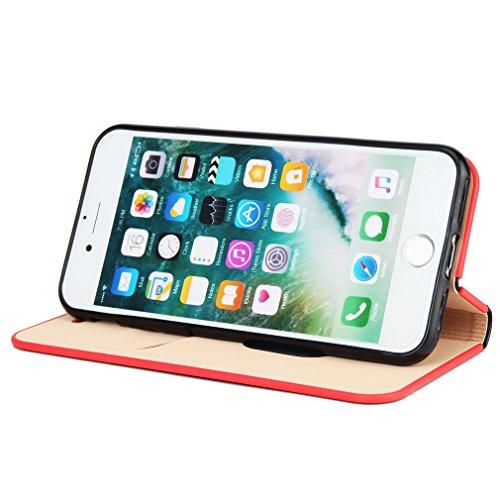 2017 Neu Hochwertige Kohlefaser automatische Saug-Schnalle Hülle Case ,TPU + Leder Cover Full Body Schutz für apple iphone 6 (Gray) Schwarz