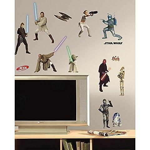 RoomMates RMK1876SCS - Star Wars I-III Wandtattoo, PVC, bunt, 13 x 2,5 x 27 cm