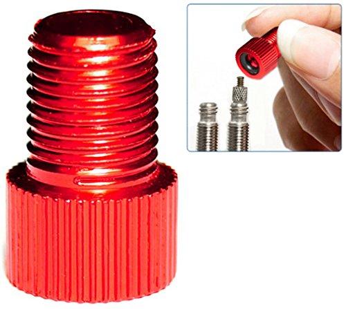 PRESKIN 1 Stück Ventil-Adapter Fahrrad-Ventil auf Auto-Ventil mit Dichtring SV AV DV | auch optisch ein Highlight