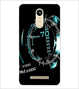 PrintDhaba SpeedoMeter D-1162 Back Case Cover for XIAOMI REDMI NOTE 3 (Multi-Coloured)
