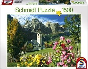 Schmidt Spiele  - 58251 Kollfuschg / Dolomitas, 1500 Rompecabezas Rompecabezas Pedazo