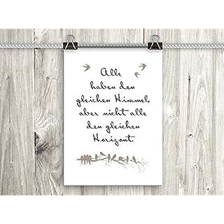 artissimo, Poster mit Spruch, Din A4, PE0075-DR, Alle haben den gleichen Himmel.., Bild mit Spruch, Spruchbild, Wandbild, Plakat, Kunstdruck, Zitat, Sprüche, Wanddekoration