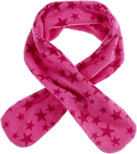 Playshoes Mädchen Steck-Schal aus Fleece ca. 85 cm lang, mit Sternen-Muster kuschelig weicher Halswärmer mit Schlaufe zum Einstecken, pink, one size
