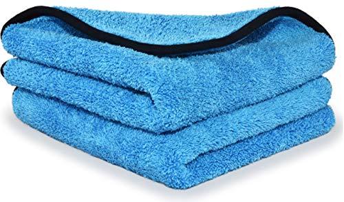 Ronulus Premium Microfasertücher 2x Set für professionelle Autopflege - extrem saugstarke und flauschige Trockentücher - lackschonend und fusselfrei für perfekte Ergebnisse jedes Mal - 40x40cm