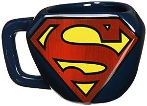 Superman Taza Desayuno, Cerámica, Azul,