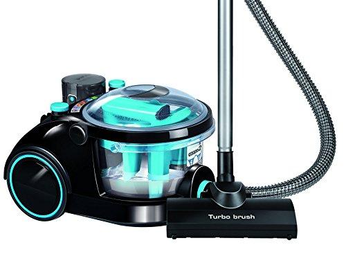 MPM Aspirador sin Bolsa Potente con Filtro de Agua de 1.2L 2600W Libre de BPA Azul MOD-19