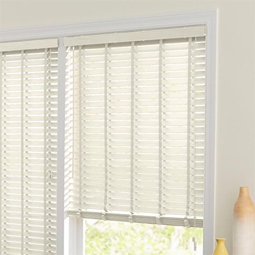 Brylanehome 2 Faux Wood Blinds (White,36 W 64 L) by BrylaneHome