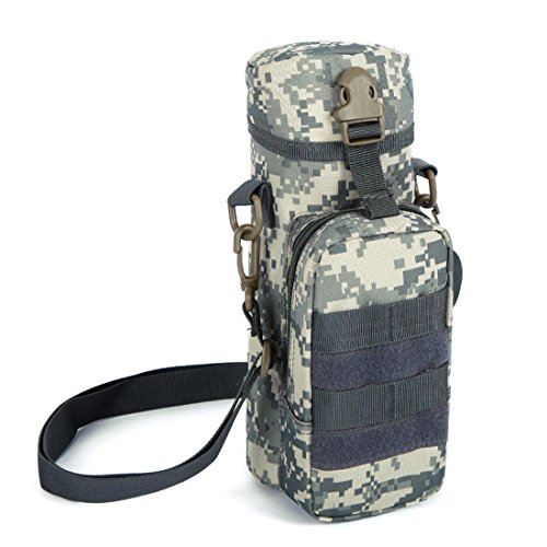 F@800ml all'aperto sport viaggio Borse a tracolla, borsa Kettle integrata tattico militare campeggio , three camouflage city number