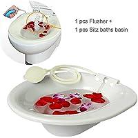 Bañera GOURDOLL Bañeras simples Tinas removibles Siéntese en el baño con tinaja Tomas de cadera y arandelas para mujeres embarazadas y pacientes con hemorroides Uso en baño tina de baño y enjuague