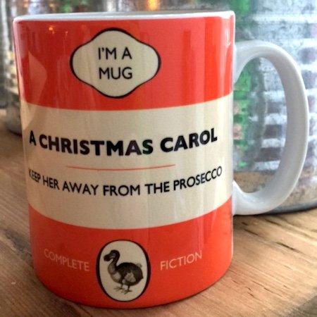Dodo livre Tasse–Une citation de Noël Carol: garder ses Away de la verre à vin blanc décor–Nouveau