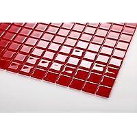 10 cm x 10 cm modelo. Vidrio mosaico de azulejos diseño en rojo MT0022 modelo