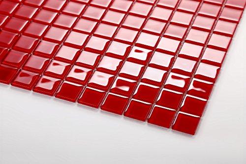 new concept d934b e4434 Preiswert Glas Mosaik Fliesen 30cm x 30cm Matte in Rot (MT0022) für ...