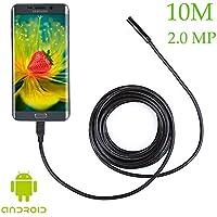 2,0MP del telefono endoscopio endoscopio per Samsung Galaxy S5S6S7Note 3456Smartphone, con gancio magnetico Specchio laterale, Plastica, 10 metri