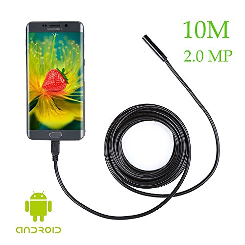 Preisvergleich Produktbild 2, 0 MP 720P Android Inspektionkamera mit 10M Kable & 6 LEDs wasserdichte 8, 5mm Endoskop-Kamera kompatibel Samsung Galaxy S5 S6 S7 Note 3 4 5 6