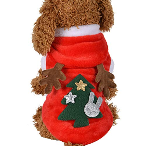 Vektenxi Hohe Qualität Haustier Hund Katze Wintermantel Kostüm Cute Elk Style Puppy Weihnachten Clothings