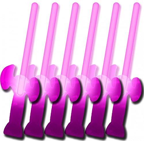 6 Knicklichter Schwerter PINK (5 kaufen + 1 Gratis!)