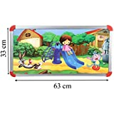 Sajani Multipurpose Heavy Duty Portable Design Kids Children Writing Study Game Laptop Bed Food Table Desk Aluminium Frame Hard Wooden Board Strong Iron Legs Laminated Top Can Withstand 60Kg (Medium) - B077QZJW4N