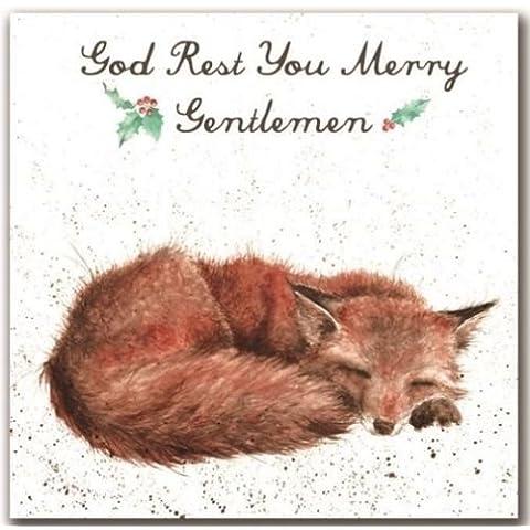 Wrendale Designs Dio resto Merry Signori di Natale Volpe by Hannah Dale