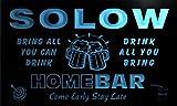 q42200-b SOLOW Family Name Home Bar Beer Mug Cheers Neon Light Sign
