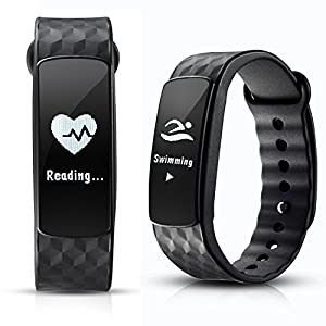 Smart Bracelet, AGPtEK Smart Fitness Trakcer Sports Bracelet Activity Tracker Heart Rate Fitness Health IP67 Waterproof Smartwatch Wristband Bluetooth Pedometer with Sleep Monitor