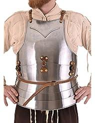 Medieval mailänder harnisch, siglo 15. de acero de pecho Pecho harnisch Armadura tanque placa LARP Vikingo Medieval