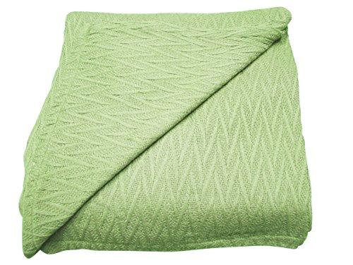 Thermo King-size-decke (Textilien Plus 100Prozent Baumwolle Herringbone Thermo-Decken, baumwolle, elfenbeinfarben, King Size)