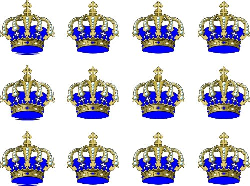 12-x-crown-blue-38mm-15-inch-pre-cut-cake-toppers-edible-rice-paper-cupcake-decoration