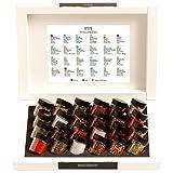 Hallingers Grillkalender BBQ 24 Männersache, white Set/Mix 24x Miniglas in Deluxe-Box, 1er Pack (1 x 385 g)