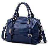 Wachs Öl Leder Tasche Damen Taschen Damen Leder Handtasche Designer Handtasche Frau Beutel Frauen berühmten Sac A Main Blau