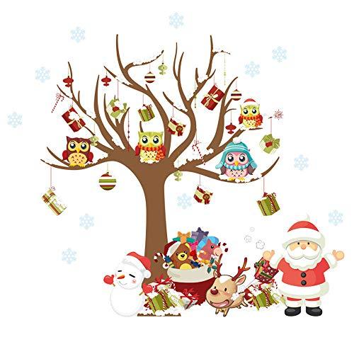 Ufengke Árbol Navidad Regalos Pegatinas Pared Papá