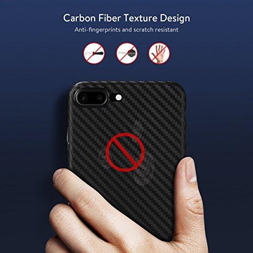 Original TheSmartGuard iPhone 6S-6 Hülle Case Schutzhülle (4,7 Zoll) - Ultra-Slim / Ultra-dünn - NEU mit integriertem Schutz für die Kamera-Linse - Farbe schwarz transparent Carbon Look Transparent