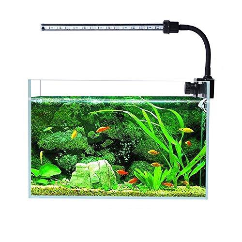 GLJY Lampada per Acquario Illuminazione a LED, Luce per Erba Piccola Luce per Clip Piccola, Clip per Acquario su Luce, Non Contiene Serbatoi di Pesce,Black
